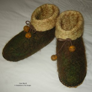 Wooly Felted Slippers