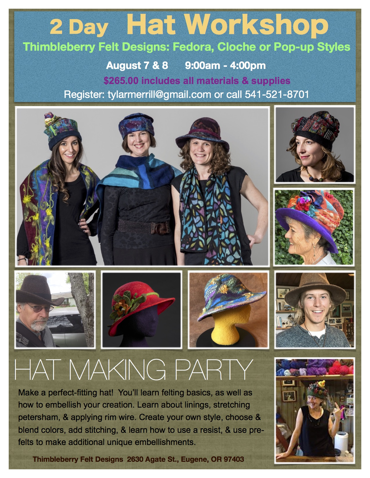 Felt Hat Making Workshop