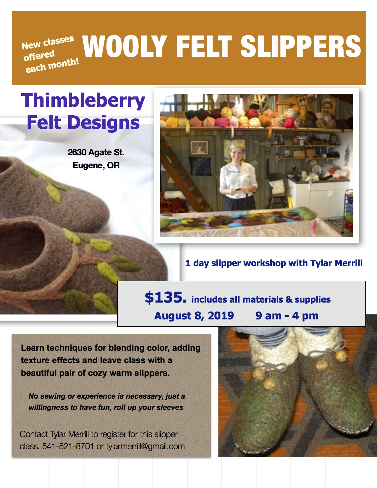 Wooly Felt Slipper Workshop